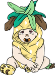 HSV: Pineapple Puppy by yinyangswings