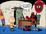 Deapool Vs. Charlie Brown by DangerFace