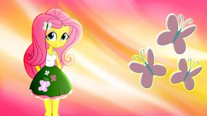 Equestria Girls Fluttershy Wallpaper by Macgrubor