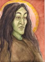 St. Aelphaba of the Waterfall by MacabreMoe