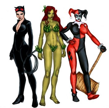 gotham city sirens colors :D by Selkirk