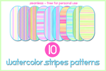 10 Watercolor Patterns by gollygirls