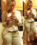 White Jeans,White Girl by Sara-Victor