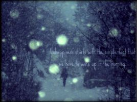 Unhappiness. by Dudiette