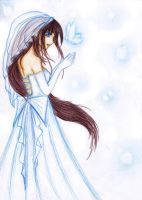 Girl in Blue Wedding Dress by yaklin1412