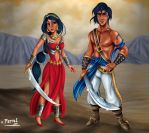 ALADDIN AND JAZMIN VERSION 1 by FERNL