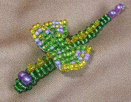Butterfly Snake - Green-yellow by TrinaElaine