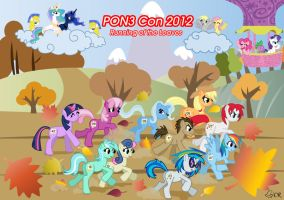 PON3 2012 Running of the Leaves Poster by ladypixelheart