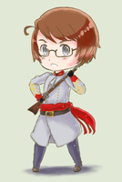 APH- A Confederate Chibi- Redone by tarateme