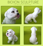 Bichon Sculpture by Noxx-ious