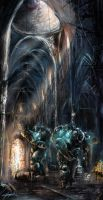 starcraft 2 marines in cathedral by VitoSs