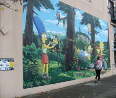 Simpsons mural by finhead4ever
