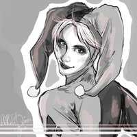Harley Quinn Sketch by Kachumi
