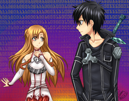 SAO - Kirito and Asuna by GreeNissy