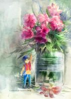 Flower Letter Boy by LenhHoli