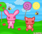 Pom and Molly in Lollyland by steffne