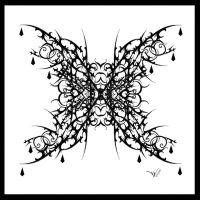 Gothic Butterfly Tattoo V2 by Quicksilverfury