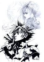 Cloud Strife Sketches by Nick-Ian