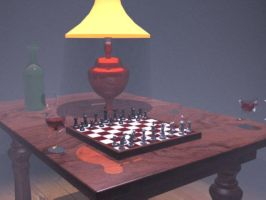 3D Table of Chess 2 by andro140