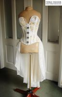 Steampunk Map Corset with Outfit by Trinitynavar