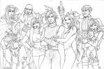 Final Fantasy 7 players sketch by Ludi-Price
