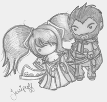League of Legends - Sona and Graves by Heartage