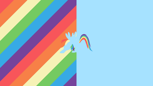 Rainbow Dash Split Minimal Wallpaper by CeruleanDraw