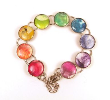Melted Crayon Bracelet Color Wheel Rainbow by annjepsen