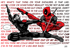 Snake Eyes vs Deadpool by jevanlee