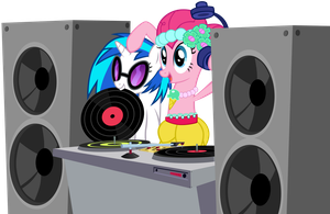 Pinkie Has DJ's Stashed All Over Equestria by MrLolcats17