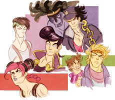 jojo's bizarre adventure - sketches by spoonybards