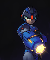Megaman by darktrigger