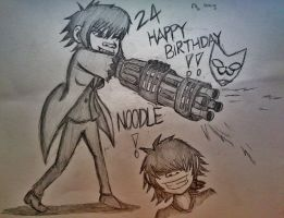 Happy Birthday, Noodle and Happy Halloween! by Fil101