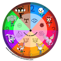 Lucia and Friends Clock Design by MangaFox156