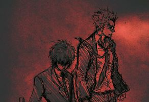 Ryohei and Hibari by atlops