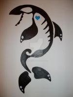 Orca hart Painting by NamineEveningLight