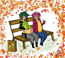 McDonalds in Fall by Squidbiscuit