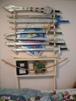 Sword Rack holds 8 by ElizzaBeast