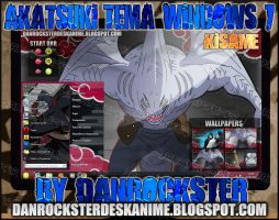 Kisame Theme Windows 7 by Danrockster