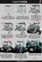 Tutorial Digital Painting Fur Photoshop by Foxcun