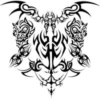 Tribal Tattoo Design by mrgatsby22