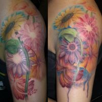 Hippie's watercolor flowers by eternaltaco
