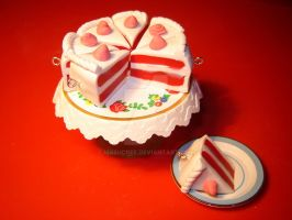 Vanilla Red Velvet Cake by MaSucree