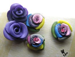 Rainbow Rose Charms by Seralunai