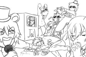 Draw the squad meme - FnaF by xRequilein