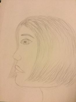Girl side view  by Concho10