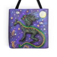 The Dream Dragon Tote Bag by DeidreDreams