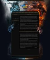 FusionCMS Template for a World of Warcraft Server by LoomarEvO