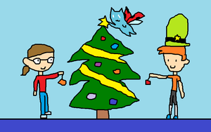 AT: Decorating a Chirstmas Tree by Toongirl18