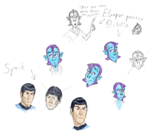 Warm-Up Flyspur and Spock Sketches Colored by John-AM